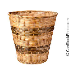 Wastebasket Isolated with clipping path