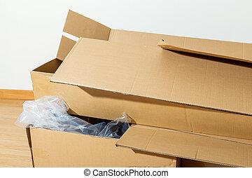 Wasted carton box
