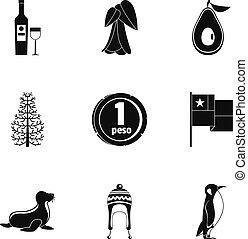 Wasteland icons set, simple style - Wasteland icons set....