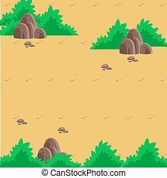 wasteland illustration. Nice for infographic background