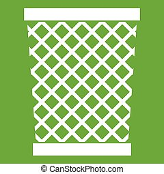 Wastepaper basket icon green