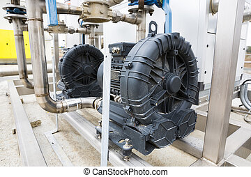 Wastewater treatment plant electrical motor