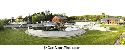 wastewater treatment plant exterior