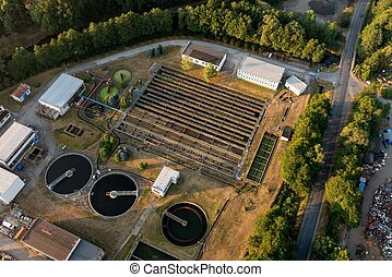 Wastewater treatment plant in Susice city, Czech republic