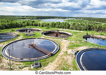 Wastewater treatment plant is an industrial structure designed to remove biological or chemical waste products from water