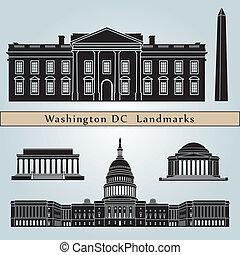 waszyngton dc, punkty orientacyjny, i, pomniki