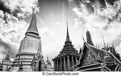 """""""wat, 空, -, バンコク, 有名, 劇的, pho"""", 寺院"""