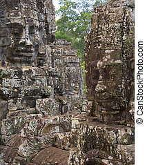 wat, -, angkor, cambodge