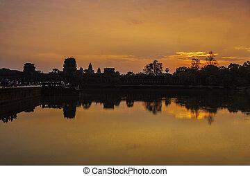 wat angkor, siem, récolter, cambodge, asie