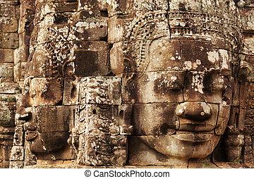 wat , bayon , καμπότζη , αντικρύζω , κρόταφος , angkor