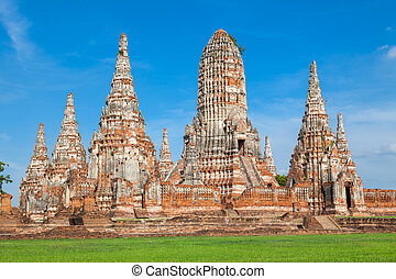Wat Chaiwattanaram, the historical temple in Ayutthaya,...