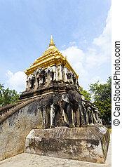 Wat Chiang Man temple in Chiang Mai, Thailand.