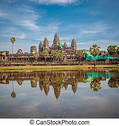 wat de angkor, templo, camboya, salida del sol