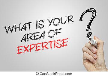 wat, gebied, schrijvende , expertise, hand, jouw
