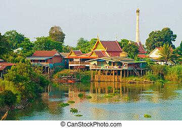 Wat in Ayutthaya Thailand