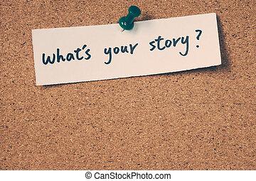 wat is, jouw, verhaal