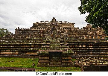 wat , khmer , αρχαίος , baphuon, βουδιστής , cambodia., ...