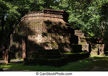 Wat Khong Chai Historical Park in Kamphaeng Phet, Thailand (a part of the UNESCO World Heritage Site Historic Town of Sukhothai and Associated Historic Towns)