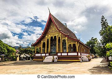 Wat Manorom temple in Luang Prabang, Laos