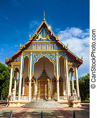 wat, neua, tempel, in, kanchanaburi, thailand