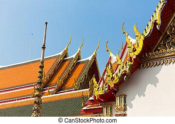 Wat Pho Temple Roof