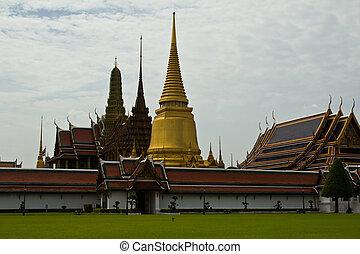 Wat Phra Kaew, Temple Bangkok, Thailand.