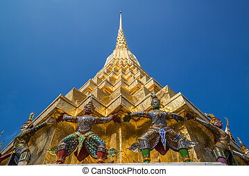 Wat Phra Keow. The royal temple in Bangkok, Thailand, is located near Bangkok grand palace.