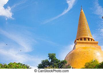 Wat Phra Pathom Chedi temple in Thailand.