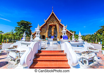 Wat Phra Sing temple Chiang Mai Province Asia Thaila