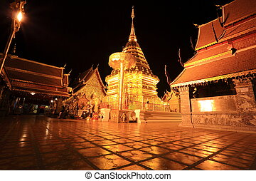 Wat Phra That Doi Suthep at night