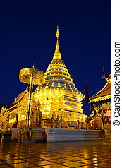 Wat Phra That Doi Suthep, Chiang Ma - Temple with a long ...