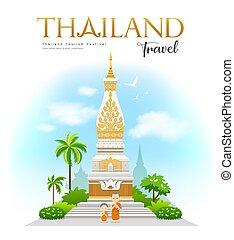 Wat Phra That Phanom, Nakhon Phanom Province, beautiful of ...