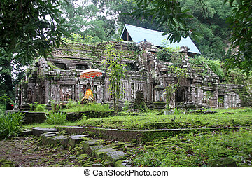 Old Wat Phu temple in Champasak, Laos