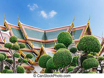 Wat Po Temple roofs