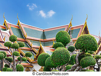 Wat Po Temple roofs