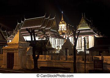 Wat Ratchanaddaram and Loha Prasat in Bangkok, Thailand
