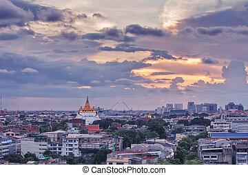 Wat Saket Ratcha Wora Maha Wihan is a buddhist temple on the...