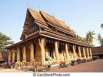 The main building of Wat Sisaket in Vientiane, Laos.