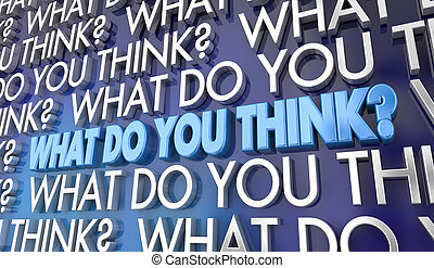 wat, standpunt, illustratie, jouw, woorden, mening, u, denken, 3d