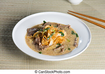 wat tan hor, popular cantonese fried noodle in south east...