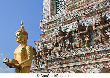 wat, thailand., arun, bankok