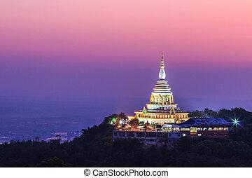 wat, thaton, templo, en, chiang mai, asia, tailandia
