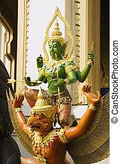 Wat Trai Mit Statue - Statue at Wat Trai Mit in Bangkok,...