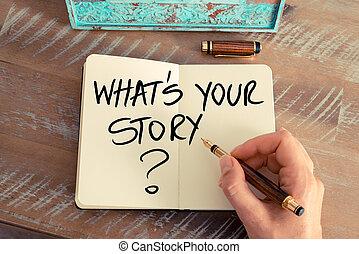 wat, vraag, verhaal, ?, jouw