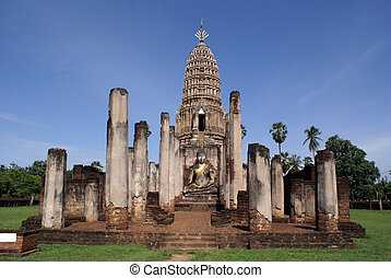 Wat - WAt Phra Si Ratana Mahaphat, Si Satchanalai, Thailand