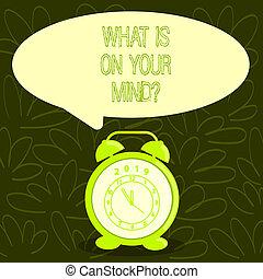wat, zakelijk, foto, het tonen, intellectueel, jouw, conceptueel, innovation., georiënteerd, hand, mindquestion., showcasing, schrijvende , open, denkt