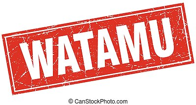 Watamu red square grunge vintage isolated stamp