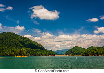 Watauga Lake, in Cherokee National Forest, Tennessee. -...