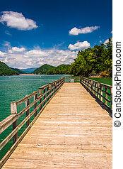 watauga, tenne, cherokee, לאומי, אגם, יער, לדוג שובר גלים