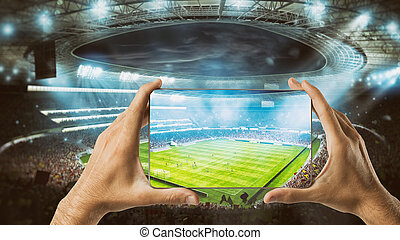 Watch a live sports event on your mobile